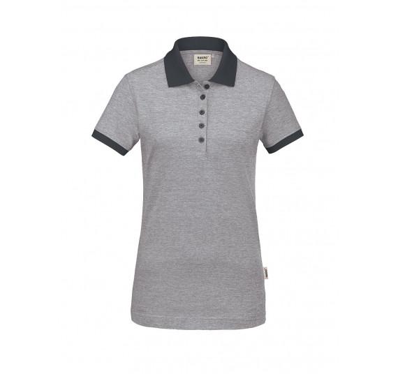 Hakro Damen-Poloshirt Bird´s Eye, Farbe anthrazit, Größe 3XL