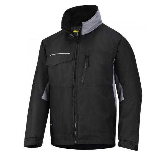 Snickers Workwear Handwerker Winter-Arbeitsjacke, Rip-Stop, 1128, Farbe Black/Grey, Größe L Regular
