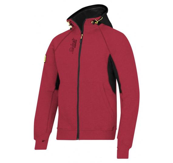 Snickers Workwear Kapuzensweatshirt mit Reißverschluss, 2816, Farbe Chili Red/Black, Größe S