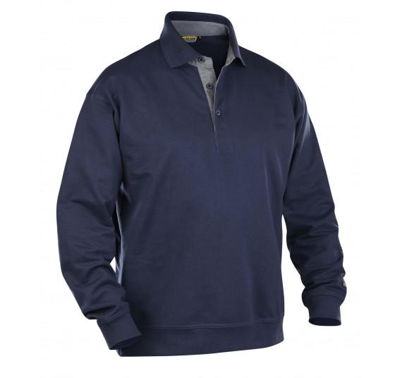 Blåkläder Pullover mit Kragen, 33701158, Farbe Marineblau, Größe XL