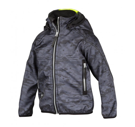 Snickers Workwear Junior Soft Shell Jacke, 7506, Farbe Steel Grey/High Visibility Yellow, Größe 98/104