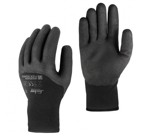 Snickers Workwear WETTER Flex Guard Handschuhe PAAR, 9325, Farbe Black, Größe 10