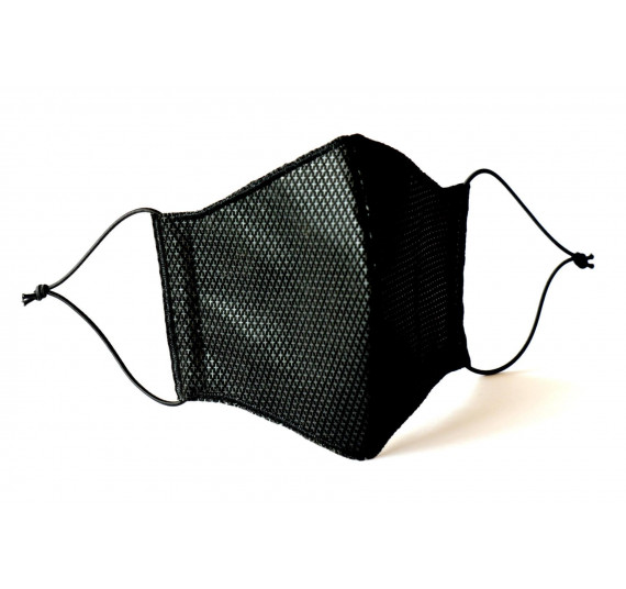 Gesichtsmaske 3-lagig, schwarz, waschbar