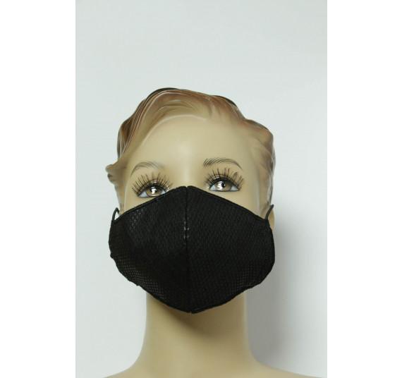 Gesichtsmaske für Kinder, 3-lagig, schwarz, waschbar